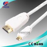 Micro HDMI to Displayport HDMI Cable in White (pH6-1207)