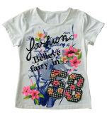 Popular Flower Children Girl T-Shirt for Kids Clothing Sgt-024