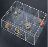 Clear Plastic Acrylic Retail Makeup Jewellery Display Case