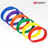 Colour Filled Silicone Smart RFID Wristbands for Festivals