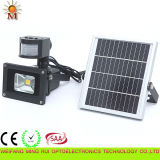 10W IP 65 Outdoor Solar Powered LED Flood Light with PIR Sensor