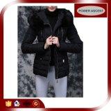 2015 Ladies Black Ultra Light Fur Goose Down Jacket