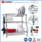 Patented Adjustable Chrome Metal Kitchen Dish Drying Rack, Plate Rack