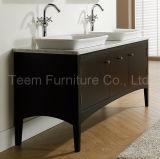 Modern Double Sink Bathroom Cabinet Set with Open Shelf