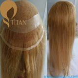 Hand Tied Women′s Wig French Lace Toupee for Women