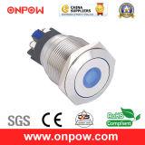 Onpow 22mm Push Button Switch (GQ22L-11D/G/6V/S, CE, CCC, RoHS Compliant)