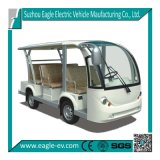 Electric Sightseeing Bus, 8 Seat, Automatic Drive, No Gear Box, Four Wheel Hydraulic Brake, Optional Solar Panel, Power Steering