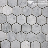 Polished White Marble Mosaic Tiles for Bathroom Floor/Swimming Pool (mm-013)