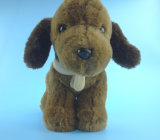 Dark Brown Plush Dog Toy