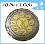 Customized Zinc Alloy Coin in 2 Tone Plating
