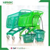 Virgin PP All Plastic Supermarket Hand Shopping Cart Trolley