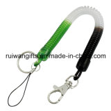 Custom Plastic Springs Mobile Strap with Coil Keychain