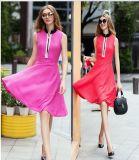 OEM Europe Style Patch Work Elegant Dress for Women