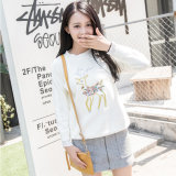 2017 Cozy Knitted Pure Women Printing Pullover