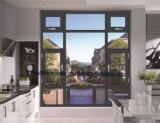 2017 New Style Break Bridge Aluminium Casement Window with Fly Mesh