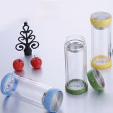 New Design Eco-Friendly Double Wall Glass Tea Infuser Bottle