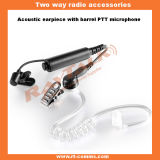 Two Way Radio Acoustic Tube Earphone with Barrel Ptt (EM-4140)