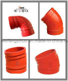 Fire Fighting Ductile Iron Grooved Elbow with FM/UL/Ce Certificates