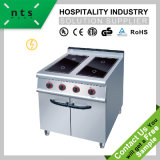 4 Electric Ceramic Hob, Induction Cooker with Cabinet for Hotel and Restaurant