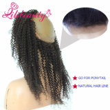 360 Front Lace Wig with Adjust Belt 6A Kinky Curlyremy Human Hair