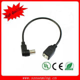 90 Degree Right Angled USB Panel Mount Extension Printer Cable