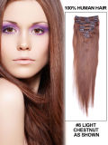 Clip on Hair Extension Chestnut Brown #8