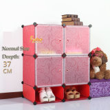 Red Plastic DIY Storage Cbinet with Many Colors Available (FH-AL0518-4)