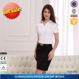 Women′s Business Shirts, Women′s White Short Sleeve Shirt-Dshl096