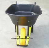 Heavy Duty Wheelbarrow with PU Foam Wheel and Steel Handle