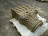 Beige Sandstone Column for Architectural Building Project