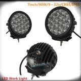Black Round 7inch 90W Spot/Flood CREE LED Work Lights