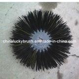 PP Material Black Round Road Brush (YY-019)