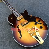 Pango Music Quality Archtop Jazz Semi-Hollow Electric Guitar with Bigsby (PJZ-009)