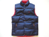 The Most Popular Reversible Navy Blue & Red Puffer Down Vest