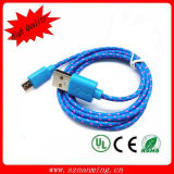 Durable Fabric Braided Nylon Micro USB Data Sync Cable