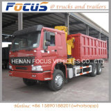 40t Payload Heavy Sino HOWO Tipper Dump Truck with Crane
