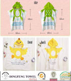 100% Cotton Customized Children Hooded Towel Baby Cape