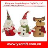 Christmas Decoration (ZY13G126-1-2-3 28CM) Christmas Santa Ceramic Products