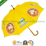 Straight Customize Umbrellas with Printed Logos for Wooden Pole (SU-0023W)