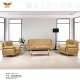 Modern Design Office Leather Sofa Covered with Metal Leg (HY-S983)