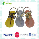 Lady′s Sandals, Fashion Design with Bead Decoration, PVC Shoes