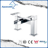Top-Mount Two Holes Dual Handle Waterfall Bathtub Faucet (AF3981-2)