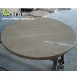Natural Stone Beige Travertine Round Dining Table