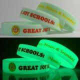 Custom Silicone Wristbands with Glowing Dark