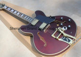 Custom Claret-Red Body Electric Guitar with 5-Way Switch (TJ-233)