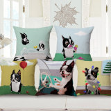 45X45cm Square Cotton Linen Sofa Cushion Cover Without Stuffing (35C0171)