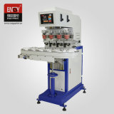 En-Y200/4A 4 Color Pad Printing Machine for Bottle Can Cups Glass Metal Surface with Coveryor