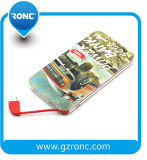 5000mAh Credit Card Power Bank with Built-in Cable Powerbank