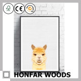 Wall Decoration Alpaca Art Painting with Wood Frame for Decoration
