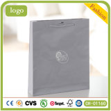 Grey Sliver Stamping Diamonds Gem Chain Beautiful Coated Art Paper Bag